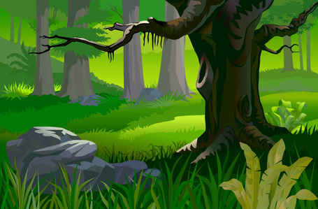 Free Forest Background Clipart and Vector Graphics.