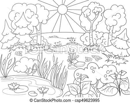 Black and white clipart forest 4 » Clipart Portal.