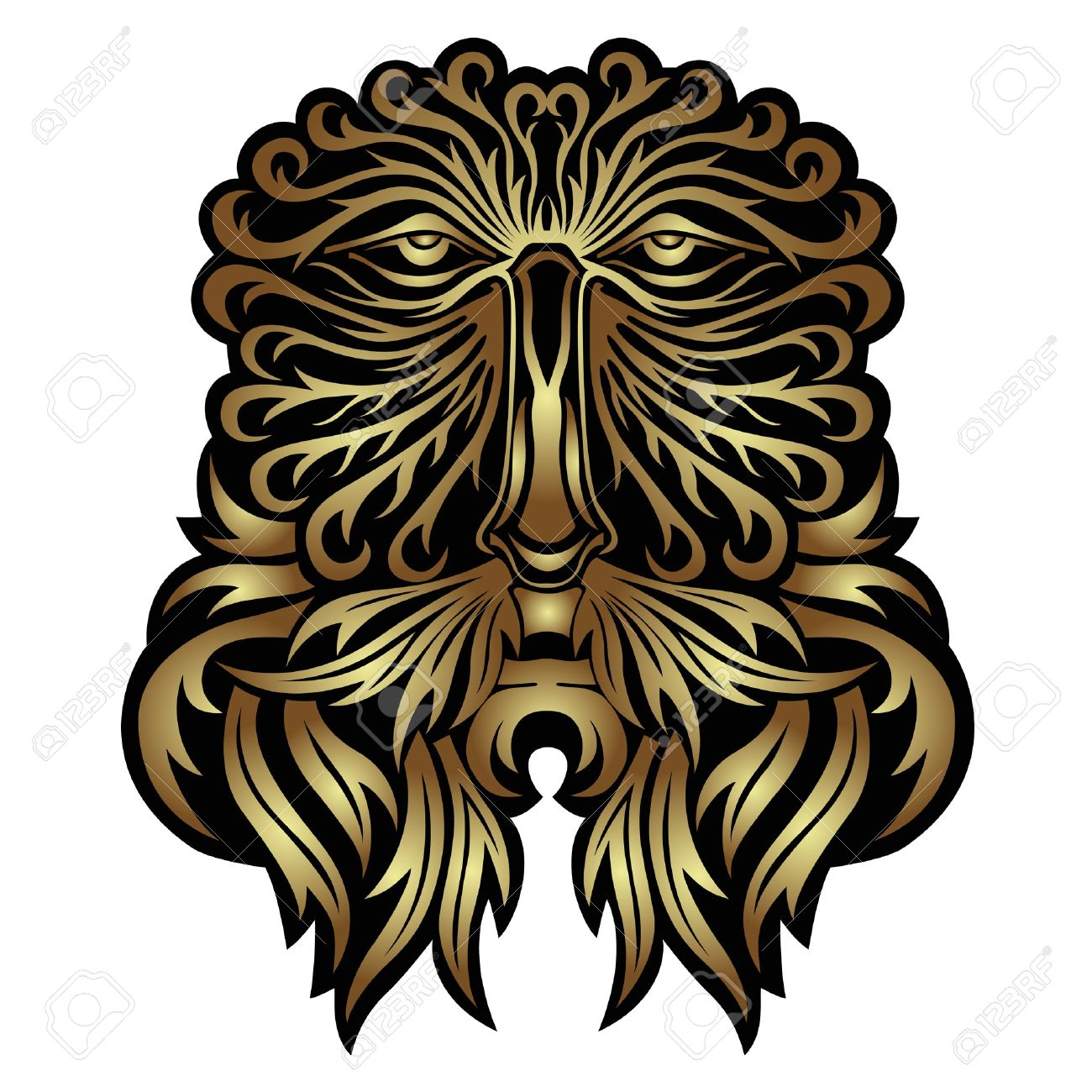 Face Forest Spirit Mask Royalty Free Cliparts, Vectors, And Stock.