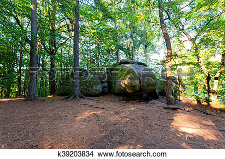 Stock Photo of rock formation Devil Ass, Czech Canada k39203834.