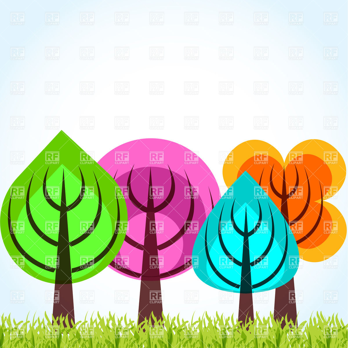 Forest fall clipart #6
