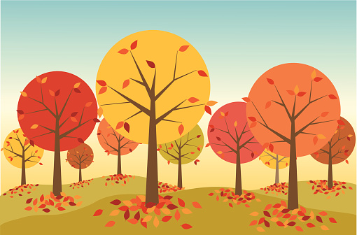 Fall forest clipart.