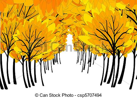Fall in the Forest Clip Art.