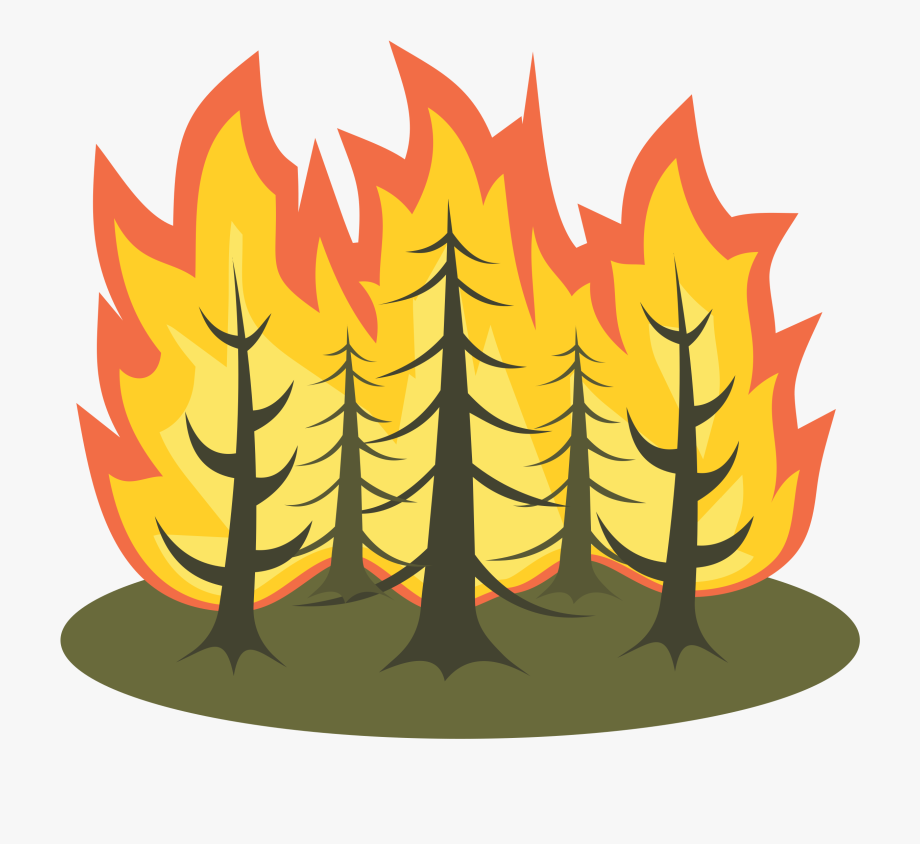 Forest Fire Clipart.