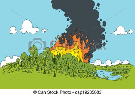 Vector of Forest Fire.