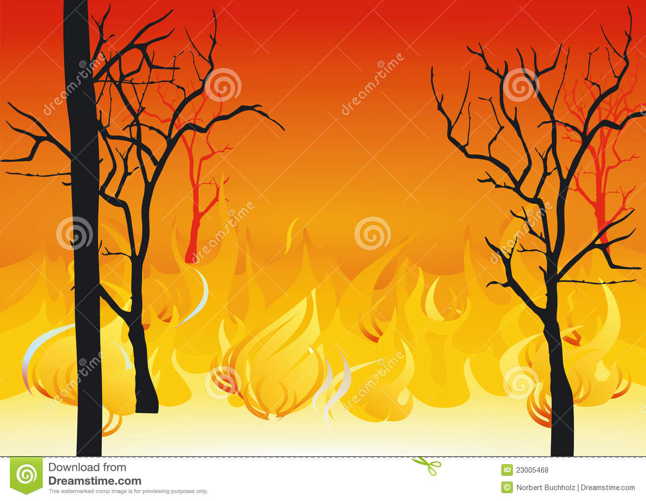 Forest Fires Stock Illustrations.