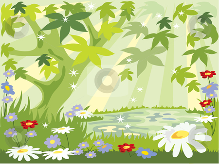 Forest Clip Art Flowers.
