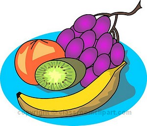 Fruit Plate Clipart.