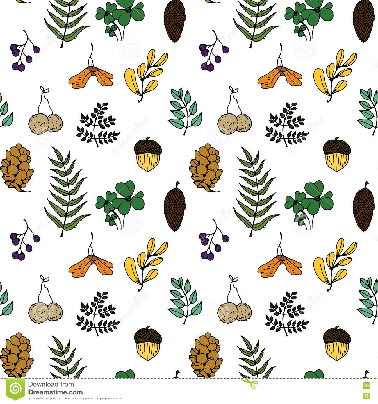 Forest fruits clipart #3