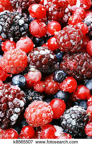 Picture of Frozen forest fruits. k8565507.