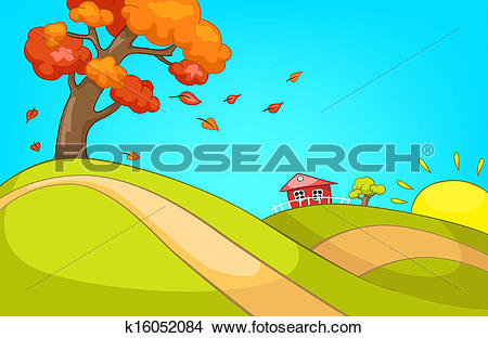 Clipart of Forest Glade k16052084.