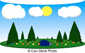 Forest glade Clipart Vector and Illustration. 352 Forest glade.