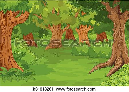 Clipart of Forest Glade k31818261.