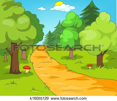 Clip Art of Forest Glade k11605177.