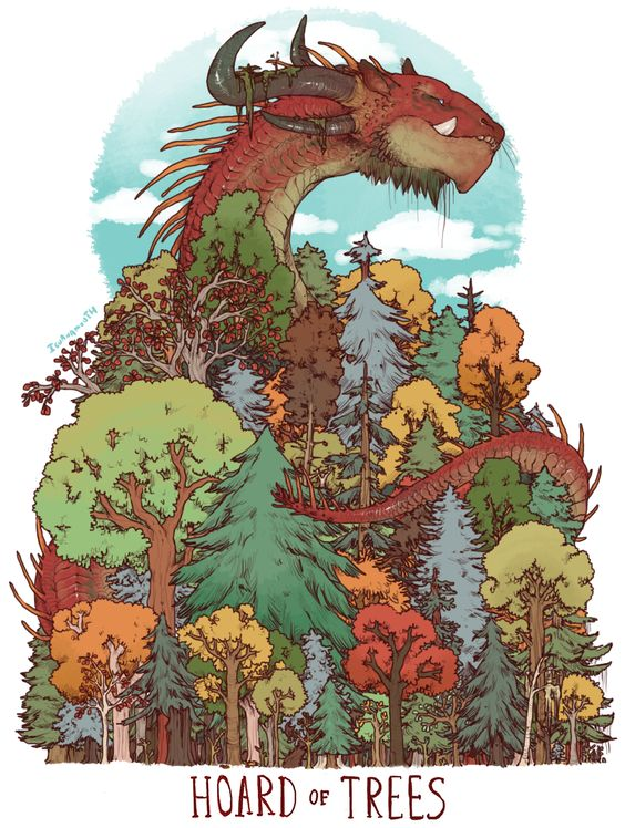 HOARD OF TREES PRINT from IGUANAMOUTH.