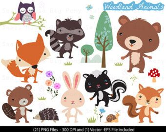 Forest Hedgehog Animal Clipart.