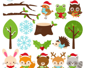 Forest Friends Clipart Set.