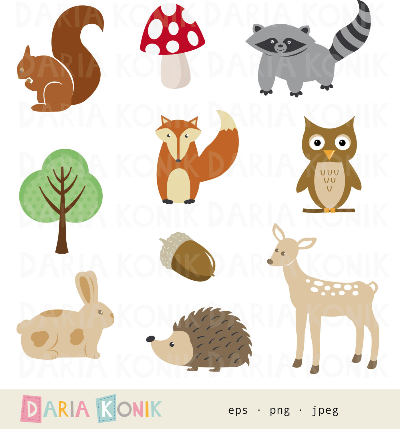 Forest Headhoge Animal Clipart.