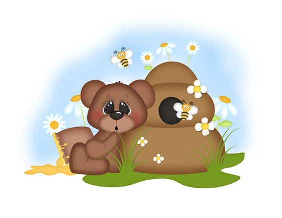 TEDDY BEAR DECAL Bee Wall Art Stickers Baby Girl Woodland Nursery.