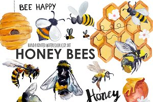 Honey clipart Photos, Graphics, Fonts, Themes, Templates.