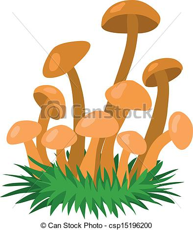 Vector Clipart of Honey fungus.