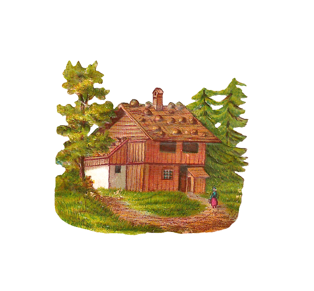 House In Forest Clipart
