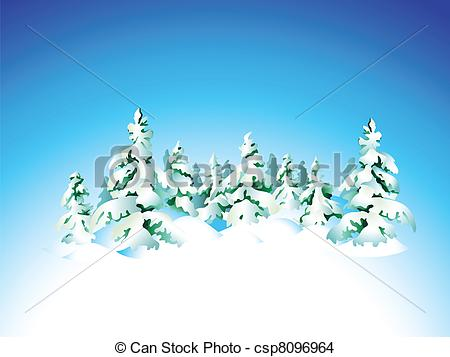 Snow forest clipart.