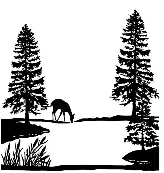 Clipart lake scene.