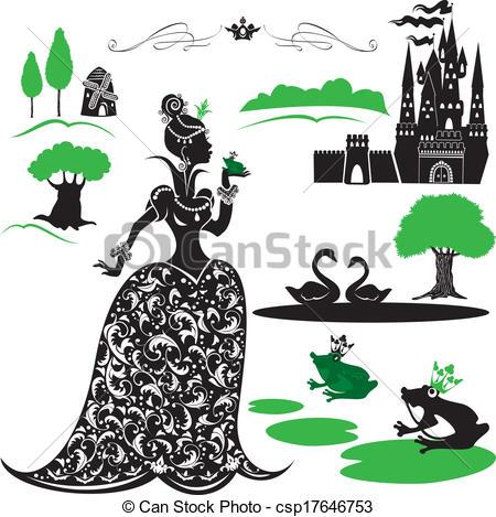 Clipart Vector of Fairytale Set.
