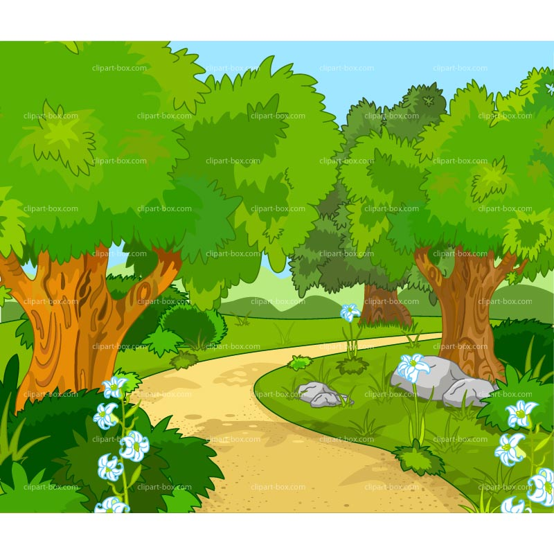 CLIPART FOREST LANDSCAPE.