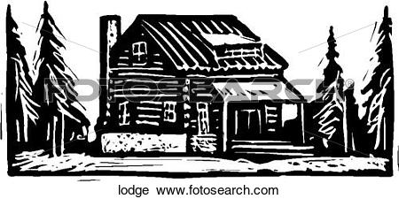 Clipart of Lodge lodge.