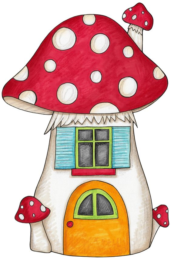 Mushroom house for an enchanted forest woodland themed party.