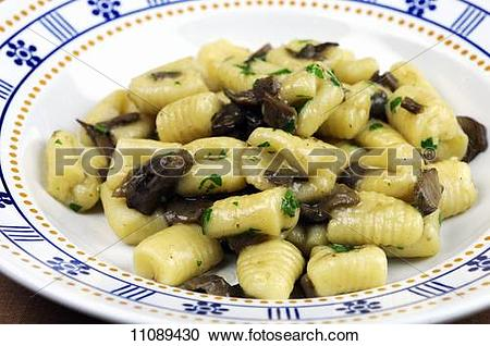 Stock Photography of Gnocchi with porcini mushroom sauce 11089430.