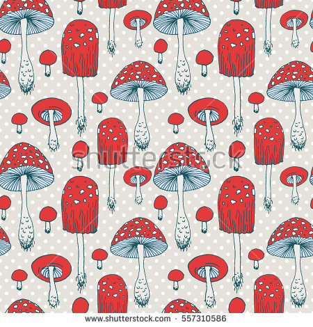 Polka Dot Mushroom Stock Photos, Royalty.