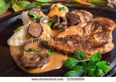 Mushroom Sauce Stock Images, Royalty.