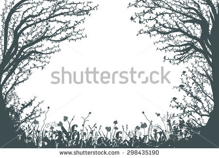 Forest Silhouette Stock Images, Royalty.