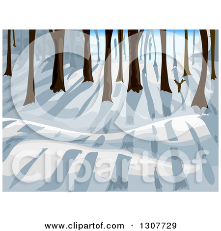 Clipart of a Lush Green Forest.