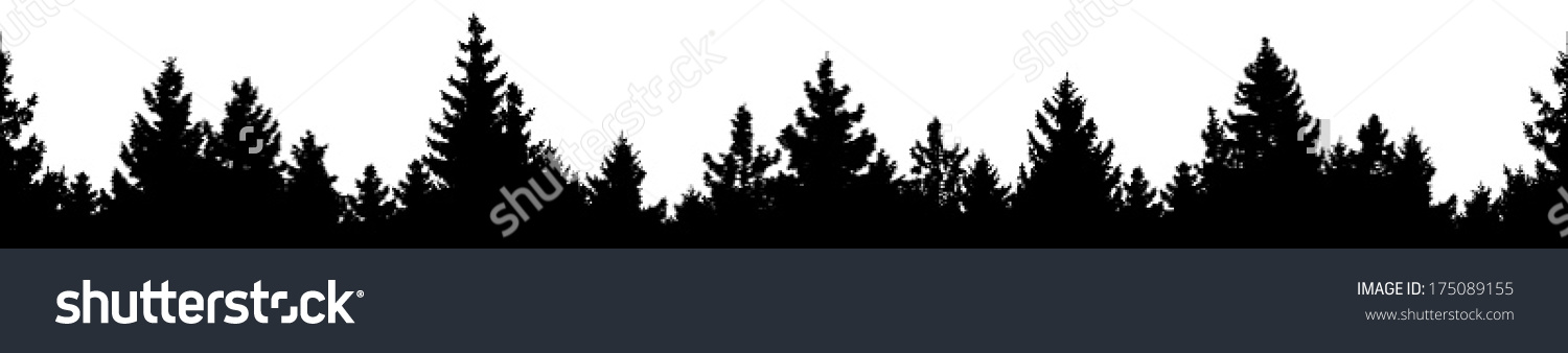 Forest Outline Clipart Clipground