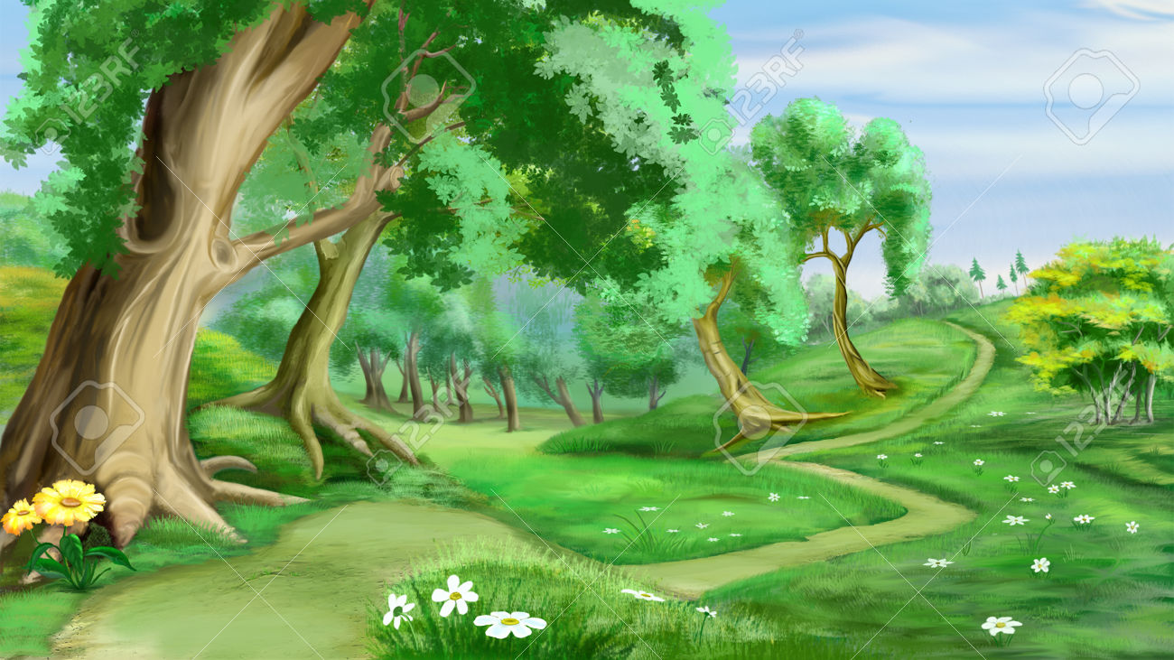 Realistic forest clipart.