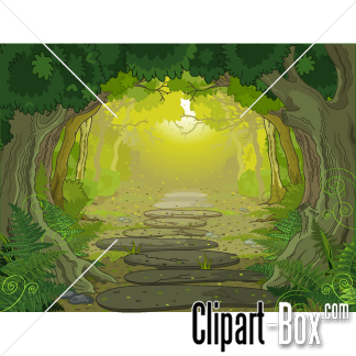 CLIPART FOREST PATH.