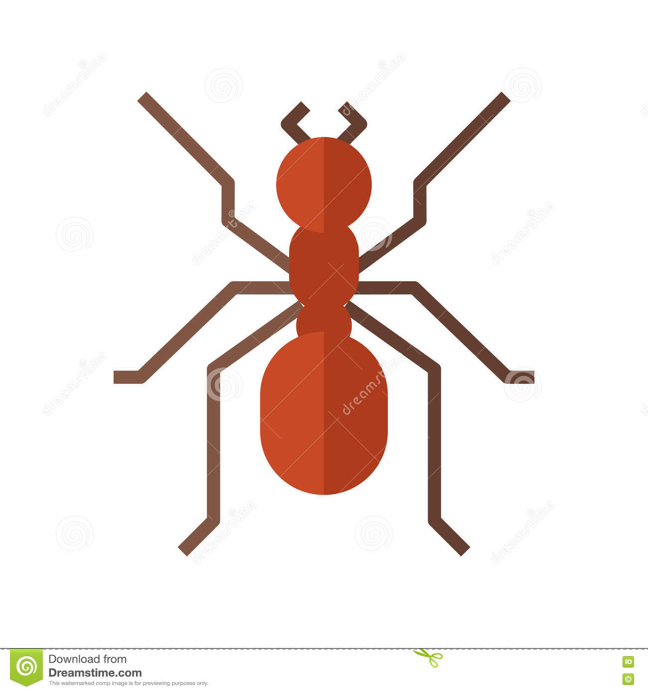 Red Ant Icon Stock Vector.