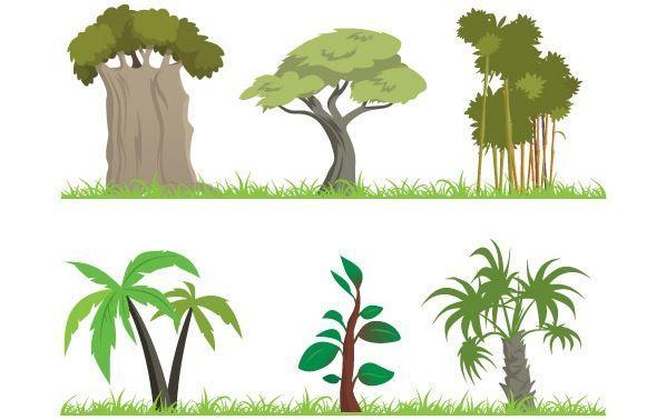 Jungle Plants Clip Art.
