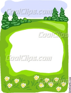forest pond border Vector Clip art.