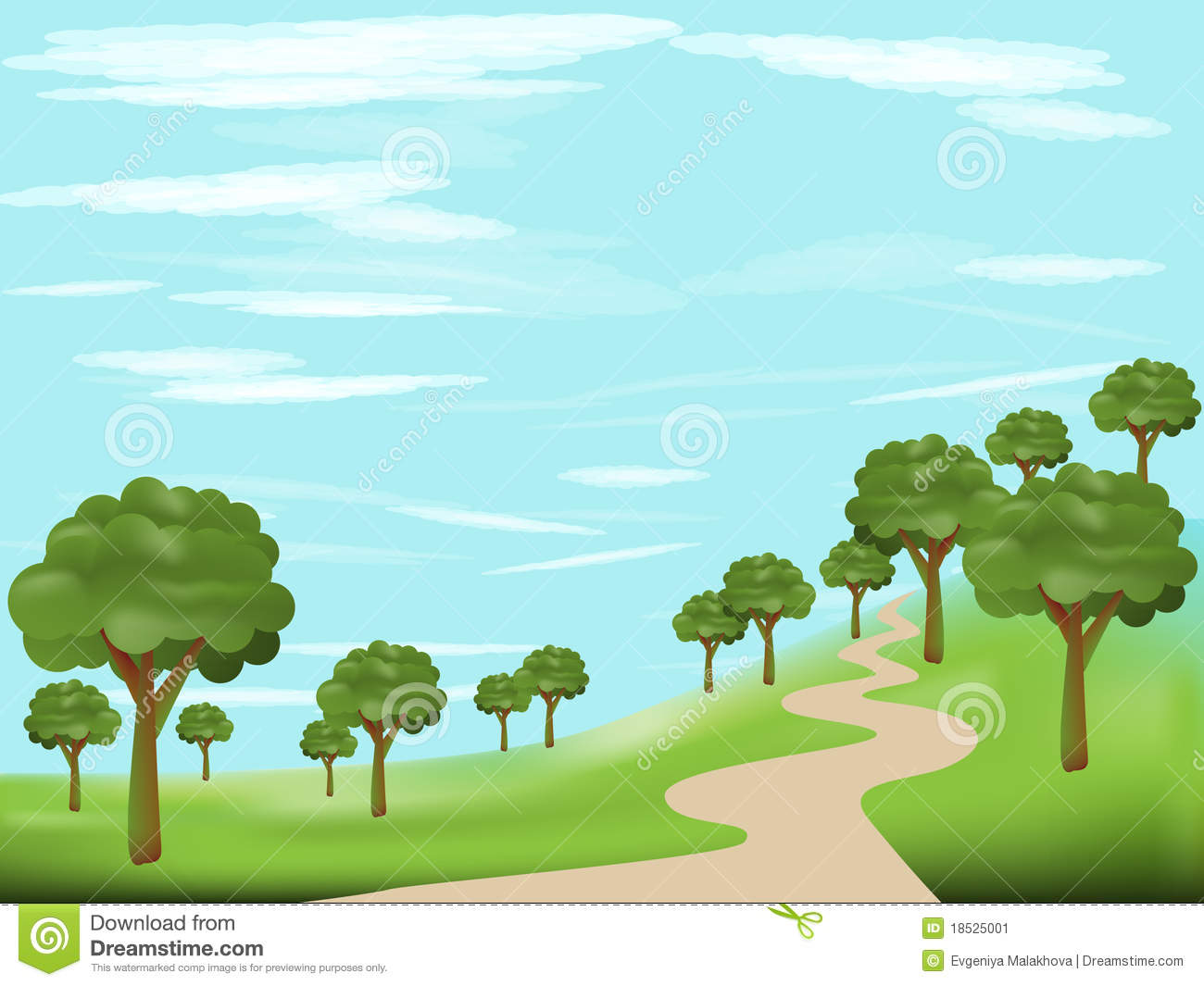 Forest road clipart - Clipground