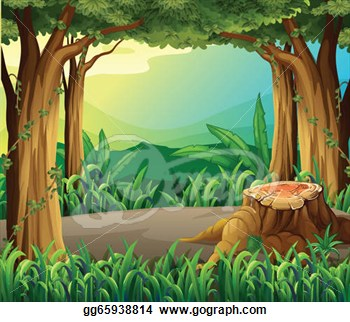 Clipart of a forest.