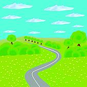 Forest road Clip Art and Illustration. 1,905 forest road clipart.