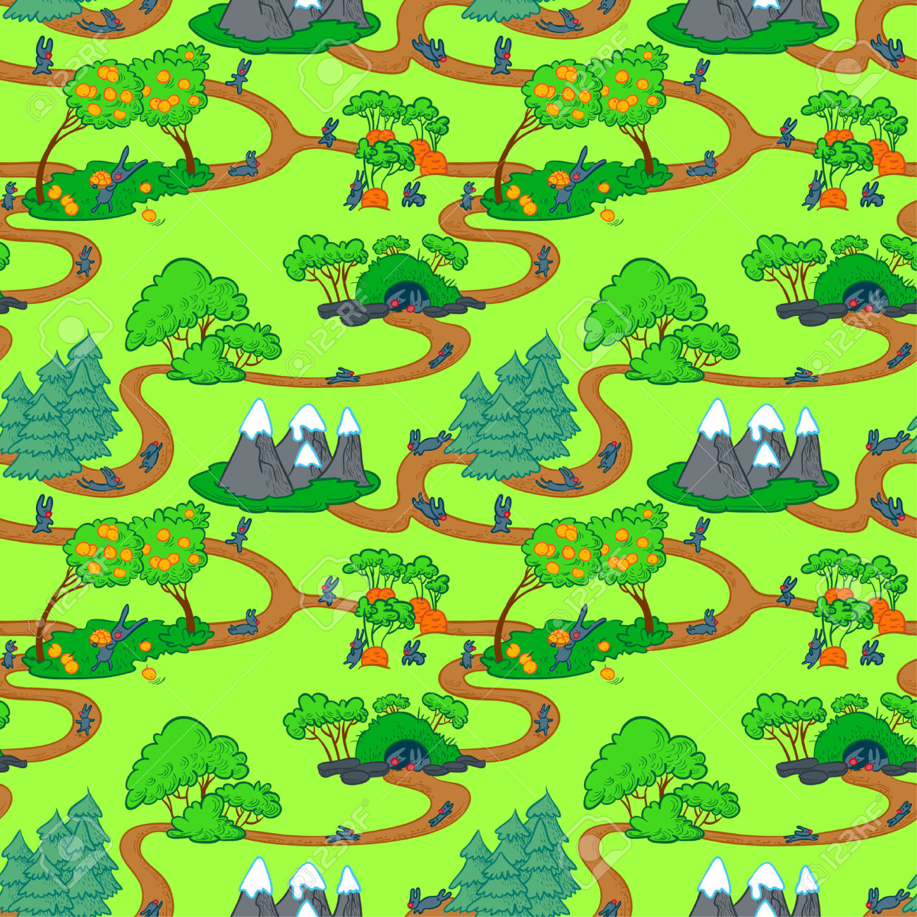 Cute map clipart.