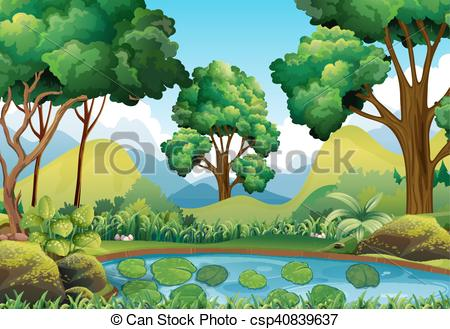 Forest scene clipart 5 » Clipart Station.