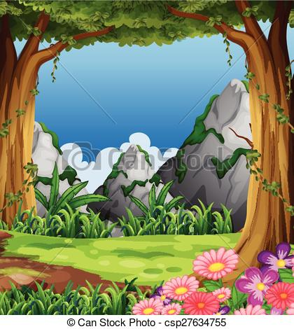 Forest scene clipart » Clipart Station.