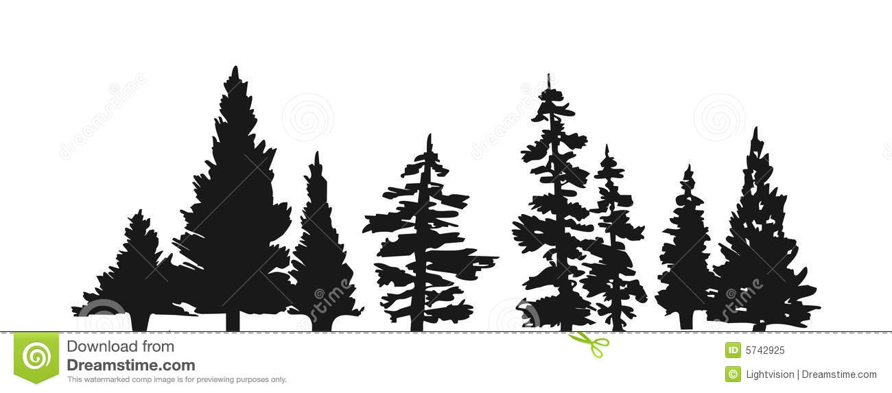 Pine Tree Silhouette Clipart.